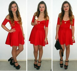 Danielle Wainwright - Asos Dress, Topshop Heels - Lady in red