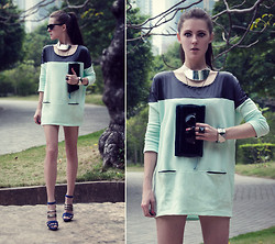Katerina Kraynova - Nowistyle Dress, H&M Necklace, Ray Ban Sunglasses - We Aren't Robots But We Pretend Emotion