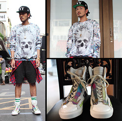 AD Huang - 40 Oz Nyc Hat, Mr.Gugu & Miss Go Sweater, Raf Simons Sneaker - 0218-2
