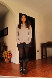 Diana S.T. - Forever 21 Shorts, Banana Republic Sweater, Forever 21 Blouse - Before magic happened