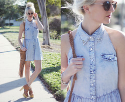 Kelli Murray Larson - Linea Pelle Bag, Jeffrey Campbell Shoes, Pacsun Dress - Denim & Fringe