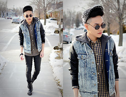 Mark Patrielle Bueno - Urban Outfitters Jean Jacket, H&M Shirt, Zara Wax Coated Pant, Steve Madden Boots - No Ordinary Love