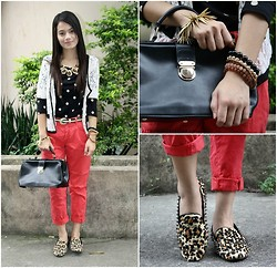 Zaira Chan - Charlotte Russe Outerwear, Forever 21 Top, Topshop Trousers, Primadonna Bag, Romwe Rivets Flats, Sm Accessories Necklace - Doctor Bag