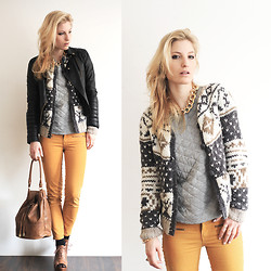 Anne Britt - Mango Chunky Knit, Zara Mustard Jeans, New Look Chunky Chain Necklace, Asos Quilted Shirt - Save me from you.