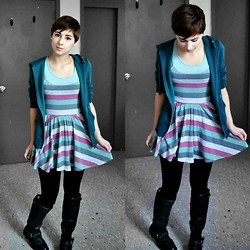 Sabrina B - Urban Outfitters Dress, Urban Outfitters Hoodie, Pacsun Boots - Drove Me Wild