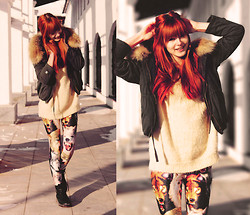 "Mary Volkova - Military Jacket, Leggings, Sweater - My last name means ""wolf"""