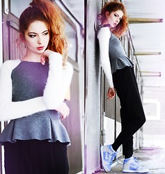 Ebba Zingmark - Timo Weiland Peplum Sweater, Nike Sneakers, Forever 21 Pants - I can't leave a ship if it's not sinking