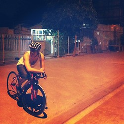 Radiz Sutthisoontorn - Masque Dog Pattern Vests, Masque Knickers Jeans, Giro Mtb Clipless - A night rider