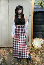 Amanda S. - Unif Nevermind Skirt, Second Hand Crop Tank, Urban Outfitters Sweater - Hail