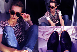 Adrian Kamiński - Selected Shoes, Lastbutwon T Shirt, Brylove Glasses - Leopard! Tee & Selected Shoes