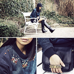 Anjelica Lorenz - Three Floor Crazy Paris Sweater, Marc By Jacobs Purse, Zara Boots, H&M Hat - MY SECRET GARDEN.