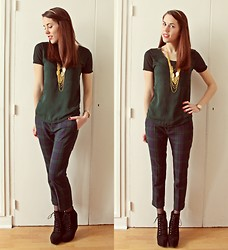 Laura A-B - The Kooples T Shirt, Zara Pants, Aldo Shoes - We Are Golden