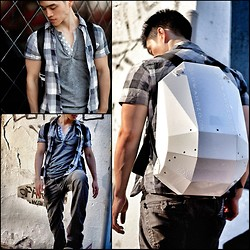 Edward Z. - Backpack, Double Button Shirt - Time Traveler's Backpack/Wearable Art! [WIN it on my Blog]