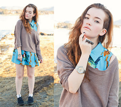 Rachel Ecclestone - Jc Sweater, Romwe Baroque Dress, Gina Tricot Two Finger Ring, Swiss, Din Sko Creepers - Lover of Light
