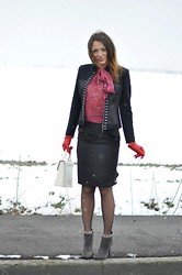 Melissa Cabrini - Pinko Shirt, Roccobarocco Jacket, Guess? Skirt, Yves Saint Laurent Bag - My New Yves Saint Laurent