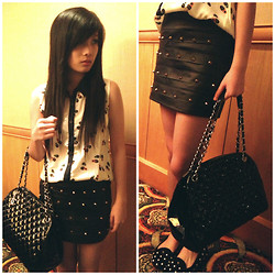 Meliani Chu - Studded Skirt, Chanel Bag, Chu Shopp Page Studded Flatshoes - 24022013 <3
