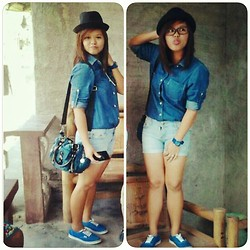 Nicole Waters - Baleno Denim Polo, Forever 21 Denim Shorts, Vans Classic Blue Sneakers, Vans Shades - DENIM GOT BLUE-RRY.