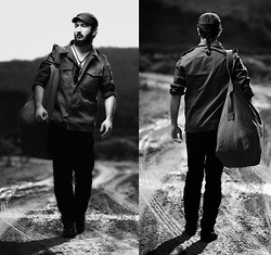 Boreas Ʊ - Vintage Military Shirt, Vintage Military Bag - The Sky Above, The Field Below.