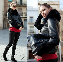 Kseniya B - Nowistyle Jumper, Theory Leather Jacket, Anya Hindmarch Bag, Boemos Oxfords - Made for Each Other