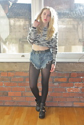 Grace Avery - Topshop Jumper, One Teaspoon Shorts, Jeffrey Campbell Boots - When I Was Young