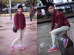 Evelio Barion - New Look Long Sleeve, Penshoppe Skinny Jeans, Sebago Top Sider - Urban Chic