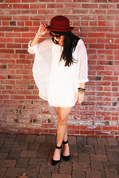 Kimberly Anne S. - H&M Bower Hat, Peanut Butter And Jerri Fishnet Dress - Fishnets and Bowler Hats