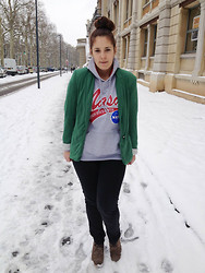 The Mam's Show - Zara Veste, Zara Slim, Somewhere Compensées - CHIC SWEAT NASA