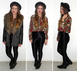 Danielle Wainwright - Vintage Blouse, American Apparel Disco Pants, Topshop Hat - Annie and the mannequins