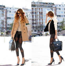 Andrea Gomez - Comptoir Des Cotonniers Trench Coat, Asos Leggins, Zara Heels - I CAN SEE THROUGH YOUR LEGGINS