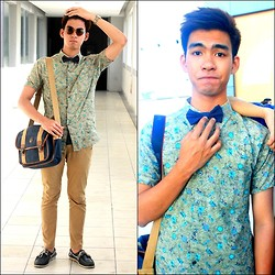 Laurence Villlaruel - Thrifted Vintage Bag, Self Made Bowtie, Thrifted Vinatge Shirt, Sperry Topsider - Old Times