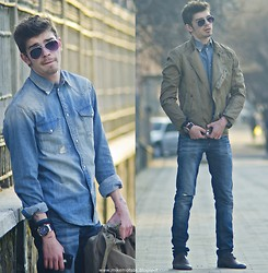 Mike Motsok - Asos Denim, Zara Jacket, Hublot Black, Topman Aviator Sunglasses - Spring, Be Good