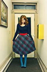 Alicia S - Vintage Grandmother's Skirt, Vintage Red Belt - Stubborn Love