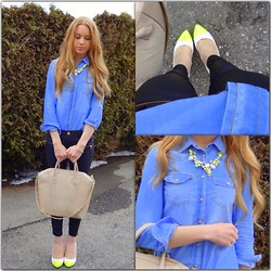 Alice Stark - Mango Blouse, Hallhuber Pants, Maxx Shoes, H&M Bag - Dash Of Yellow