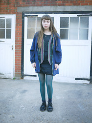 Alice B - Rokit Silk Jacket, American Apparel Footless Tights, Car Boot Sale Indian Waistcoat - People Seemed So Close, Playing Expressionless Games