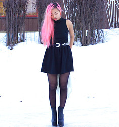 Yu Lin F. - Primark Skirt, Primark Turtle Neck, Nelly Platforms, Gina Tricot Belt - As you can see, I love colours