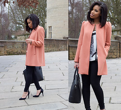 Shirley B. Eniang - Zara Coat, Mango Trousers, New Look Court Shoes, Tk Maxx Bag, Topshop Top - It's been a while Lookbook...