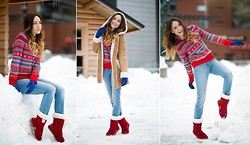 We Inspire Us . - H&M Kniw Sweater, Ugg Red Boots - Bye-Bye Winter!