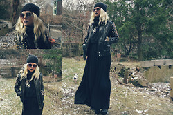 Annri L. - Obey Diy Studded Jacket, Urban Outfitters Maxi Skirt - Wild pack of family dogs.