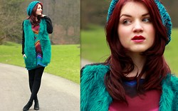 Suz - H&M Cardigan, Supertrash Dress, Shoes, Sacha Hat - Wintery turquoise