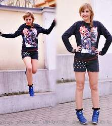 Magda S. // Life by Mada - C&A Sweatshirt, Diy Shorts, Czasnabuty.Pl Sneakers - Before spring