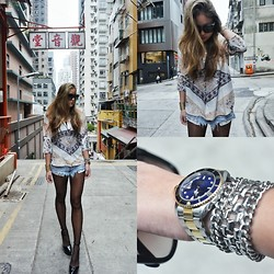 Christing Chang - Carin Wester Rasha, One Teaspoon Shorts, Rolex, H&M - Give me more
