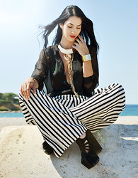 Konstantina Tzagaraki - Choies Necklace, Jeffrey Campbell Wedges - Look at that sea, all gold and shadow and things not seen..