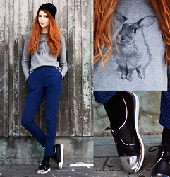 Ebba Zingmark - Pants, Lebunnybleu Shoes, Old One Sweater - Here's one for the rabbit hearted