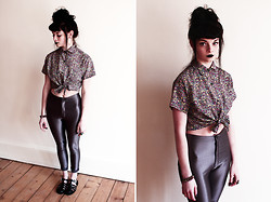 Emily H - American Apparel Floral Shirt, American Apparel Disco Pants - Floral Shirt