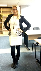 Krista NotSerious - Bershka Jacket, Keikei Dress, River Island Necklace, Billy Joe Boots - Uni