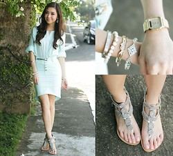 Kryz Uy - Sheinside Top, Wagw Skirt, Pretty Little Bling Bracelets - Scrubs