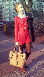 Lena Shumik - Pimkie Rеd Sweater, Primark Bag - This spring will be happy