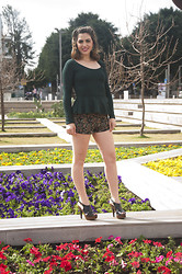 Meital David-pur - American Apparel Papillon, H&M Anna Dello Russo At, Forever 21 Shorts, Steve Madden Heels - Flower Power