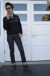 Daniel Sifuentes de Duran - U.S. Polo Assn. Jumper, Guess? Boots, Zumiez Jeans, Forever 21 Knitted Neck Tie, Ray Ban Sunnies - A day at the schoolhouse...