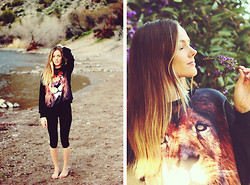 Heather Bybee - Sheinside Big Comfy Lion Sweater, Target Black Leggings - Lionheart